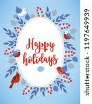 christmas greeting card with... | Shutterstock .eps vector #1197649939
