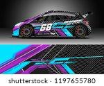 car wrap design vector. graphic ... | Shutterstock .eps vector #1197655780