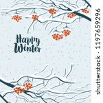 vector winter banner in a flat... | Shutterstock .eps vector #1197659296