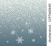falling snow on blue... | Shutterstock .eps vector #1197660640
