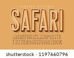 condensed 3d display font... | Shutterstock .eps vector #1197660796