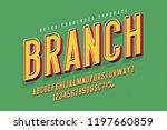 condensed 3d display font... | Shutterstock .eps vector #1197660859