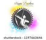 illustration of lord rama... | Shutterstock .eps vector #1197663646