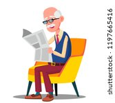 senior age man in glasses... | Shutterstock .eps vector #1197665416