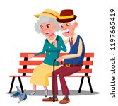 senior age family couple... | Shutterstock .eps vector #1197665419