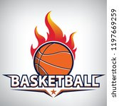 fire on basketball championship ... | Shutterstock .eps vector #1197669259