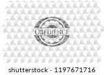 obedience grey badge with... | Shutterstock .eps vector #1197671716