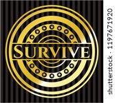 survive gold badge or emblem | Shutterstock .eps vector #1197671920