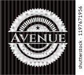 avenue silvery emblem | Shutterstock .eps vector #1197671956