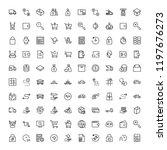 online store flat icon set.... | Shutterstock .eps vector #1197676273