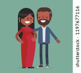 pregnant cute couple vector...   Shutterstock .eps vector #1197677116