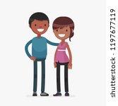 young cute couple vector...   Shutterstock .eps vector #1197677119