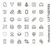 databse icon set. collection of ... | Shutterstock .eps vector #1197680986