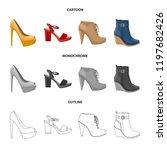 vector design of footwear and... | Shutterstock .eps vector #1197682426