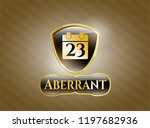 shiny badge with calendar... | Shutterstock .eps vector #1197682936