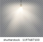 lamps set with warm light on a... | Shutterstock .eps vector #1197687103