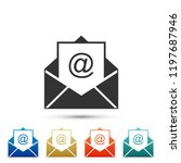 mail and e mail icon isolated... | Shutterstock .eps vector #1197687946