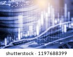 stock market or forex trading... | Shutterstock . vector #1197688399