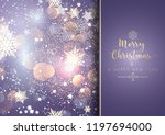 decorative christmas background ... | Shutterstock .eps vector #1197694000