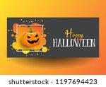 halloween banner design with... | Shutterstock .eps vector #1197694423