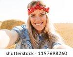 beautiful young blonde girl in... | Shutterstock . vector #1197698260