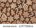 homemade gingerbread house and... | Shutterstock . vector #1197700816