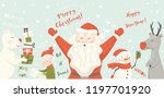 santa claus  reindeer  bear ... | Shutterstock .eps vector #1197701920