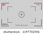 camera frame viewfinder vector... | Shutterstock .eps vector #1197702556