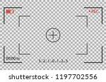 camera frame viewfinder vector... | Shutterstock .eps vector #1197702556