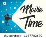 lovely movie time concept... | Shutterstock .eps vector #1197702670