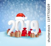 2019 happy new year background... | Shutterstock .eps vector #1197703039