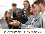 group of young colleagues using ...   Shutterstock . vector #1197705979