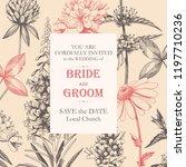 vector elegant wedding card... | Shutterstock .eps vector #1197710236