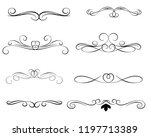 set of decorative florish... | Shutterstock .eps vector #1197713389