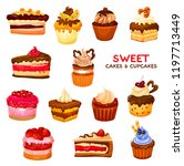 cake and confectionery dessert... | Shutterstock .eps vector #1197713449