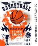 basketball sport final cup... | Shutterstock .eps vector #1197713470