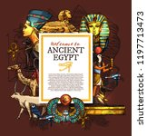 ancient egypt travel  history... | Shutterstock .eps vector #1197713473