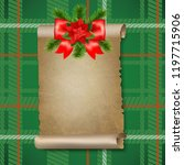 christmas old paper scrolls... | Shutterstock . vector #1197715906