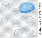 water drops set  | Shutterstock . vector #1197715909