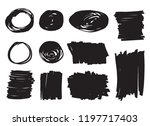 grunge design elements.vector... | Shutterstock .eps vector #1197717403