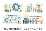 business teamwork set.... | Shutterstock .eps vector #1197717466