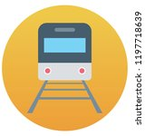 tram isolated vector icon... | Shutterstock .eps vector #1197718639