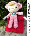 baby doll from crochet handmade. | Shutterstock . vector #1197720460