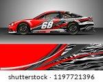 car wrap design vector. graphic ... | Shutterstock .eps vector #1197721396