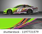 car wrap design vector. graphic ... | Shutterstock .eps vector #1197721579