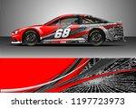 car wrap design vector. graphic ... | Shutterstock .eps vector #1197723973