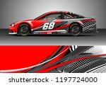 car wrap design vector. graphic ... | Shutterstock .eps vector #1197724000