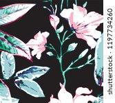 floral pattern in vector | Shutterstock .eps vector #1197734260