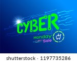cyber monday deals discount... | Shutterstock .eps vector #1197735286