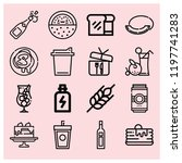 outline food icon set such as... | Shutterstock . vector #1197741283